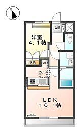 新潟県新潟市東区豊1丁目の賃貸アパートの間取り