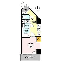 Osaka Metro御堂筋線 北花田駅 徒歩7分の賃貸マンション 4階1Kの間取り