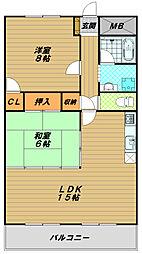 シティパレス新長田[5階]の間取り