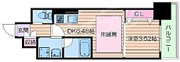 Osaka Metro御堂筋線 江坂駅 徒歩7分の賃貸マンション 6階1DKの間取り
