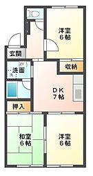 愛知県岡崎市緑丘3の賃貸マンションの間取り