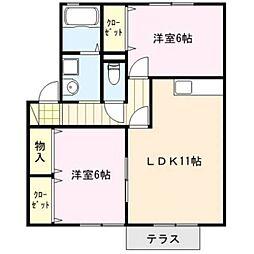 アパルトマントNFB A棟[1階]の間取り