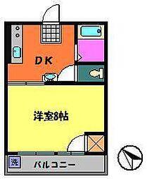 荻野ハイツ[2階]の間取り