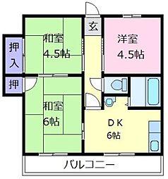 エスポワールイワタ[4階]の間取り