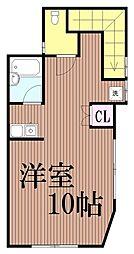 東京都大田区南馬込3丁目の賃貸アパートの間取り