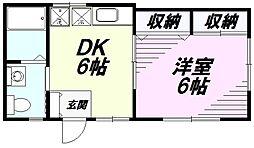 [テラスハウス] 東京都八王子市北野町 の賃貸【/】の間取り