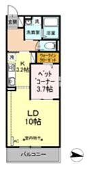 ハーウェル湘南台 2階1LDKの間取り