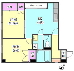 ヒロ電商事ビル[201号室]の間取り