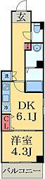 JR総武線 幕張本郷駅 徒歩2分の賃貸マンション 4階1LDKの間取り