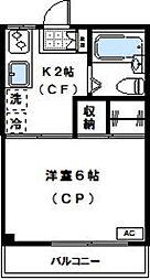 神奈川県川崎市高津区久地4丁目の賃貸マンションの間取り