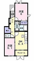 新潟県新潟市南区七軒の賃貸アパートの間取り