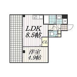 Arcenciel稲毛(アルカンシエル稲毛)[8階]の間取り