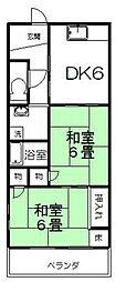 塚本コ−ポ[202号室]の間取り