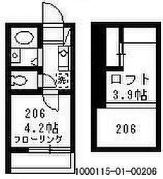 ジョンシェ高円寺[2階]の間取り