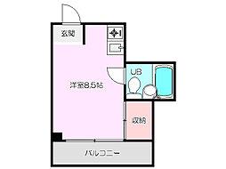 新大阪ハイツ[3階]の間取り