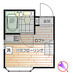 ロージェIII[1階]の間取り