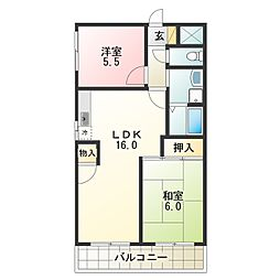 Osaka Metro谷町線 出戸駅 徒歩3分の賃貸マンション 8階2LDKの間取り