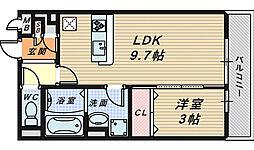 シャトレ清風[3階]の間取り