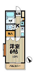 ジュネパレス鎌倉第7[3階]の間取り