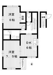 東京都練馬区豊玉中3丁目の賃貸アパートの間取り