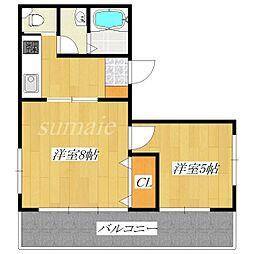 東京都北区中十条2丁目の賃貸マンションの間取り