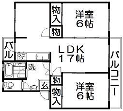 三井団地99棟[4階]の間取り