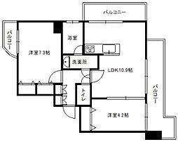 KDXレジデンス菊水四条[5階]の間取り