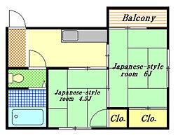 霜田ビル[2階]の間取り