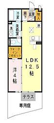 大阪府松原市天美我堂5丁目の賃貸アパートの間取り