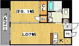 サヴォイマキシマイズ博多ステーション[607号室]の間取り