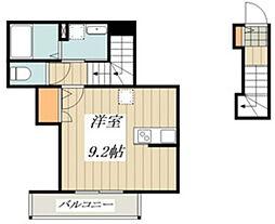 ベルフォーレ小金井公園(仮) 3階ワンルームの間取り
