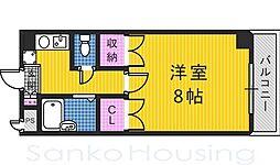 ハイツNANIWA[2階]の間取り