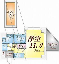 新長田 BENEFIC[4階]の間取り