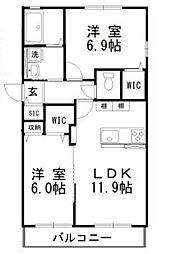 Chiaki31[102号室]の間取り