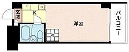 中銀日本橋マンシオン 10階ワンルームの間取り