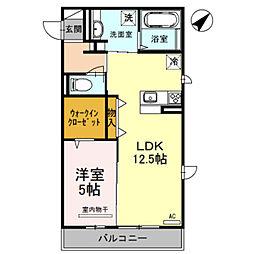 大阪府堺市中区伏尾の賃貸マンションの間取り