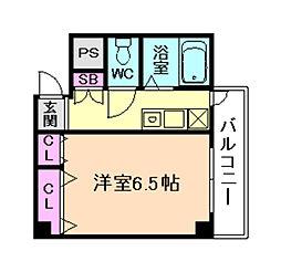 ドミール京町堀[2階]の間取り