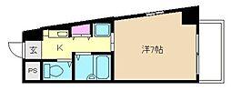 プレサンス梅田西[10階]の間取り