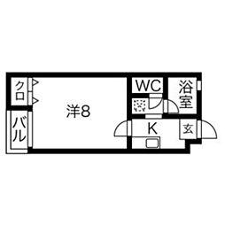 福岡県福岡市西区石丸1丁目の賃貸マンションの間取り