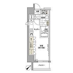 パークハビオ渋谷 2階ワンルームの間取り