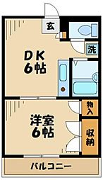 神奈川県相模原市中央区宮下本町3丁目の賃貸マンションの間取り