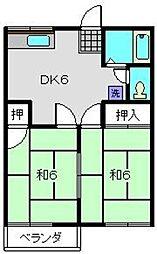 グリーンハイツB[2階]の間取り