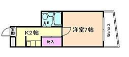 ハイツ栄町[3階]の間取り