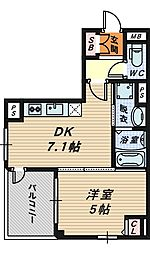 SHO[3階]の間取り