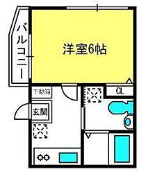 埼玉県さいたま市大宮区大門町3丁目の賃貸アパートの間取り