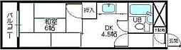 コーポ川嶋[207号室]の間取り