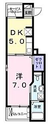 JR南武線 谷保駅 徒歩11分の賃貸アパート 1階1DKの間取り