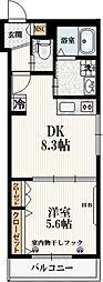 仮称)本町5丁目メゾン 3階1LDKの間取り