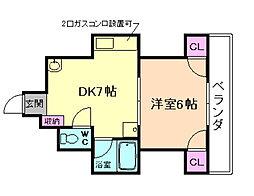 レジデンスエイト[1階]の間取り