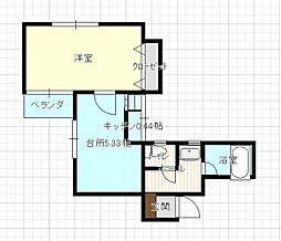 静岡県静岡市葵区駒形通3丁目の賃貸マンションの間取り